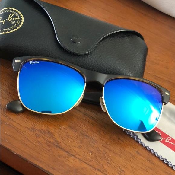 adc073ec08bc43 Ray Ban tortoise wayfarers with blue mirrored lens.  M 5a9ac0651dffdae66727eaa8